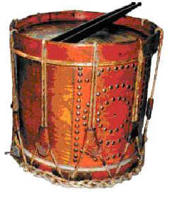 Example of a vintage, deep snare drum